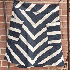 Anthropologie Striped Skirt